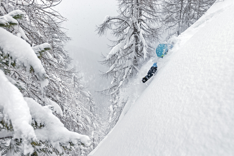 Dickie plans to find shoulder-deep powder in the Dolomites | Photo Stef Godin