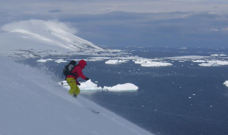 Jim Blyth ski guiding in Antartica