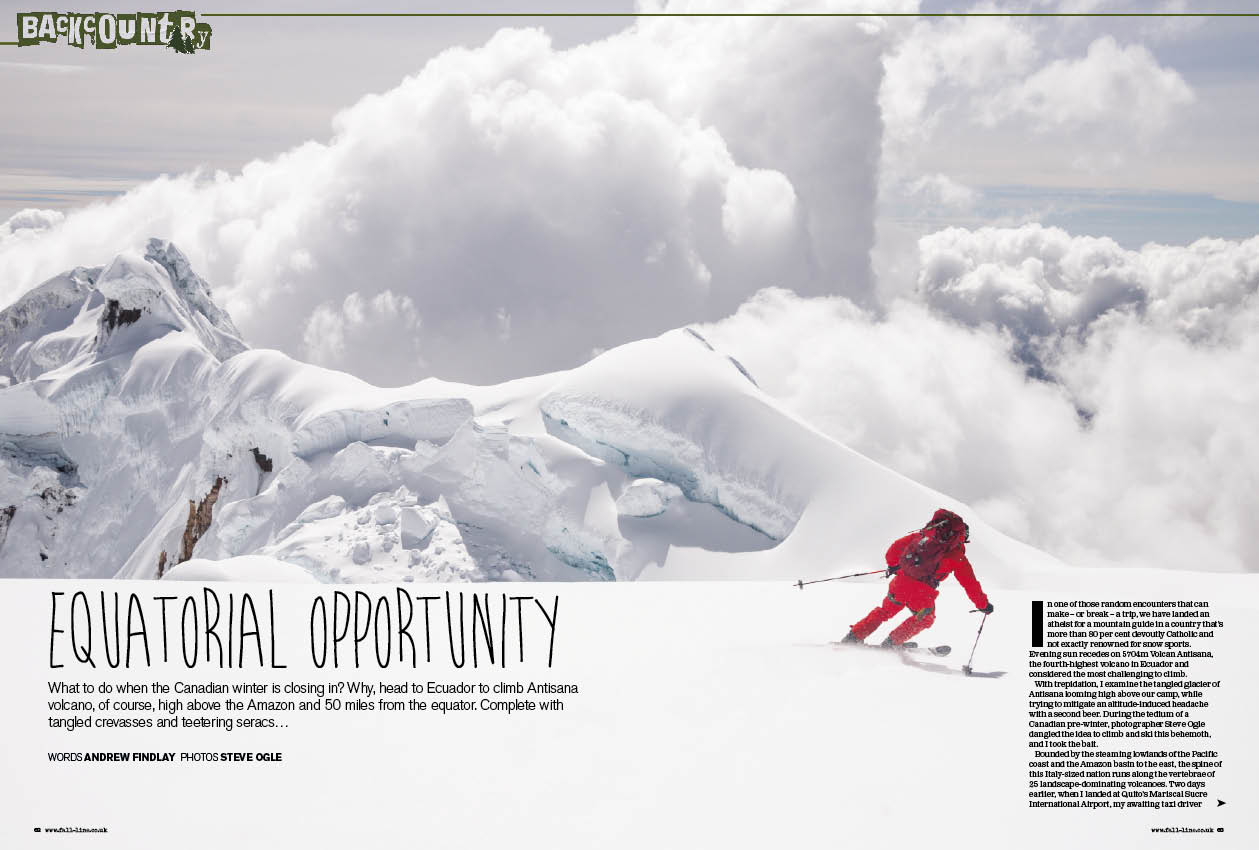 Skiing ecuador fall line skiing magazine skiing ecuador by fall line freerunsca Image collections