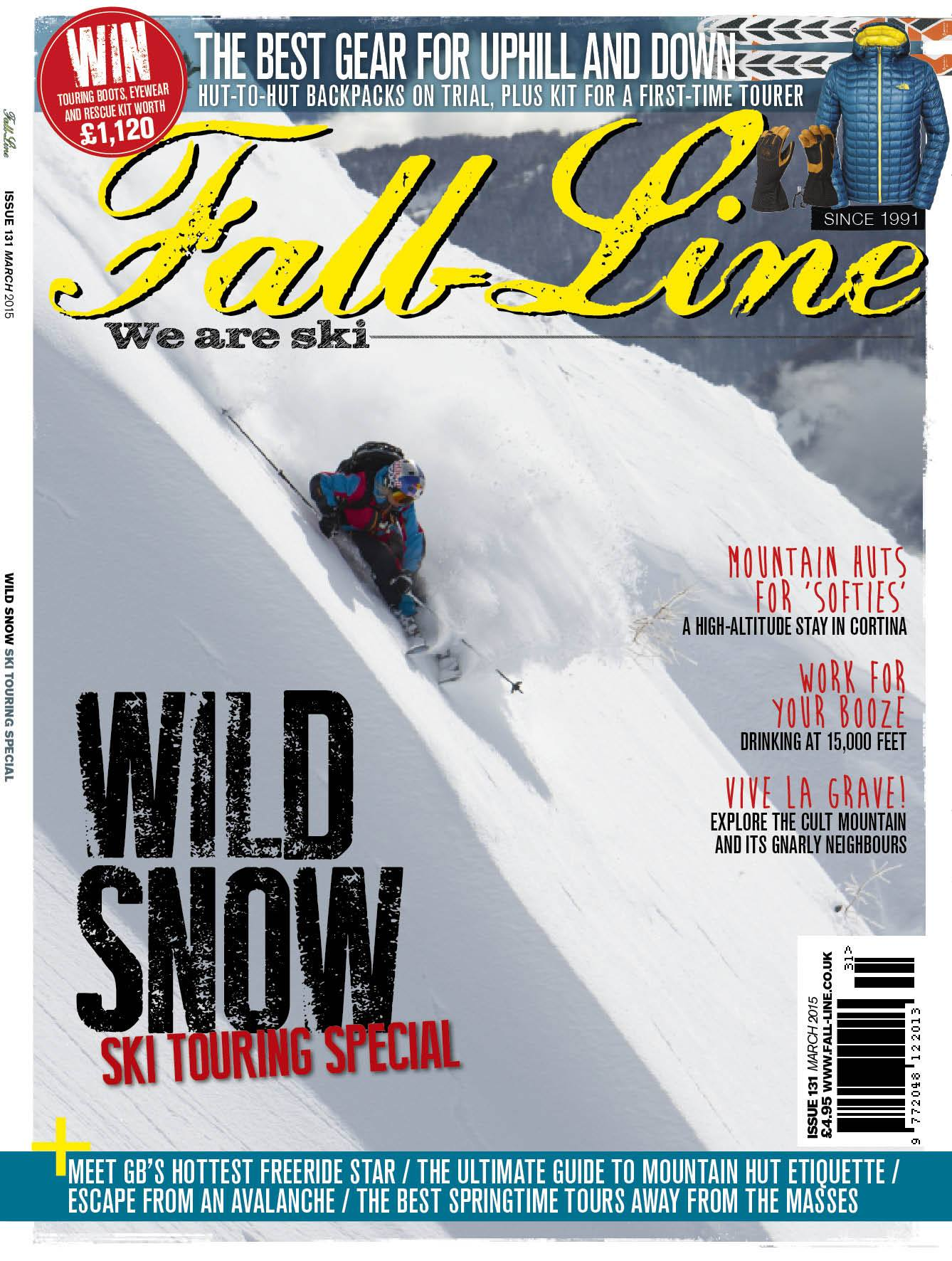 Issue 131 of Fall-Line, featuring la grave and Ian McIntosh. Order a back issue here