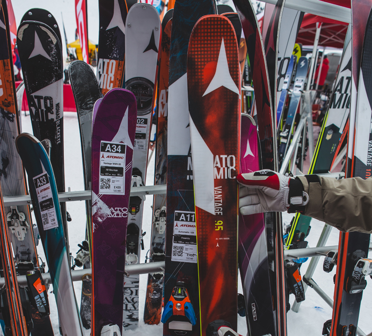 The Atomic Vantage 95 leads an impressive line-up of Atomic skis | Callum Jelley