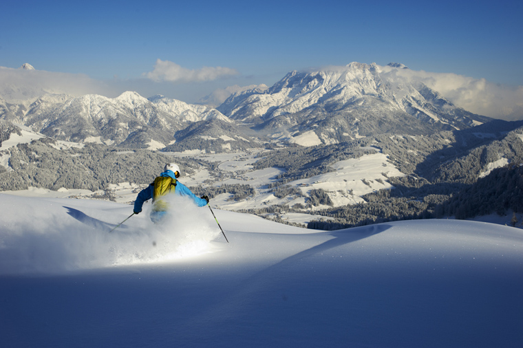 The new connection will connect Saalbach's acreage with Fieberbrunn's freeride terrain | Bergbahnen Fieberbrunn