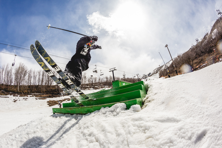 Andy Parry pressing out the Tigersnake at Park City | Rocky Maloney