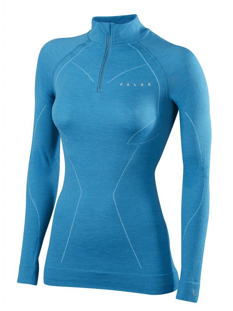 FALKE HW 1516_Advanced Skier_SK Wool Tec Women_Zip Shirt_33100_6912