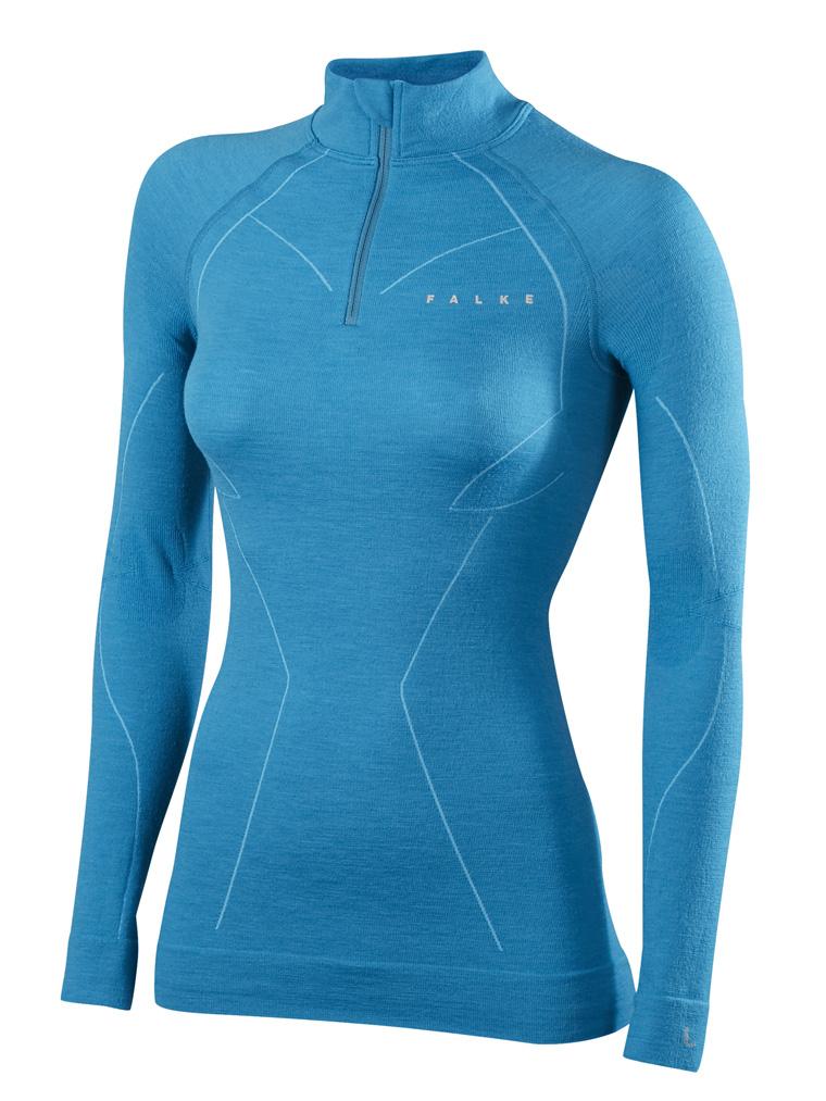 FALKE HW 1516_Advanced Skier_SK Wool Tec Women_Zip Shirt_33100_6912
