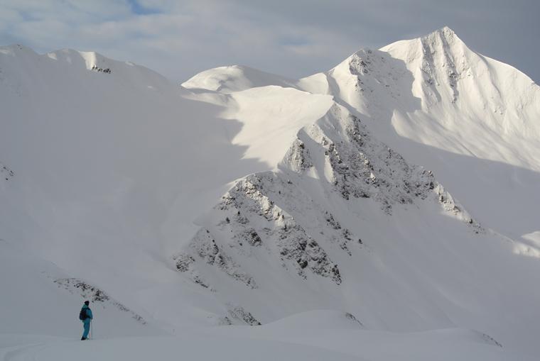 Heading towards the final ridge