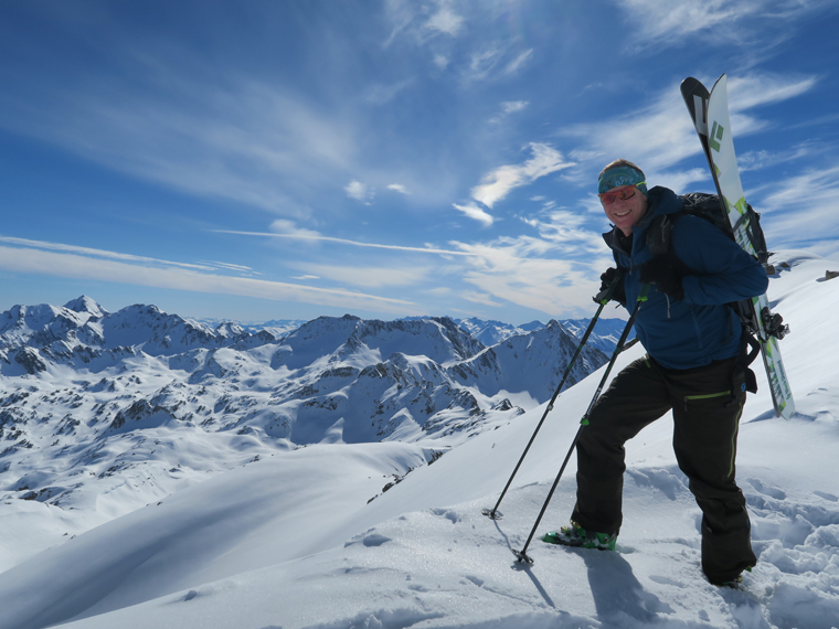 Fall-Line's Will Robson enjoys the view