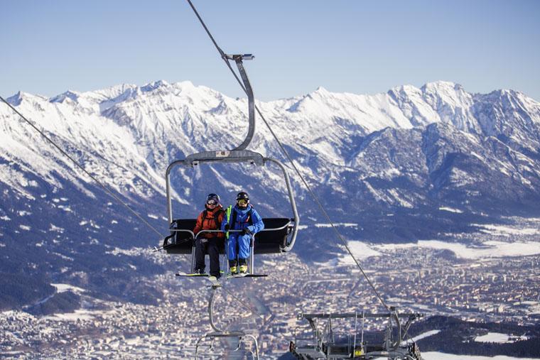 Muttereralm overlooks Innsbruck