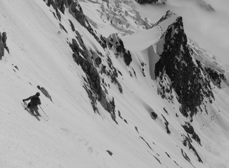 The reward: an epic descent (in this case the Brenva spur)