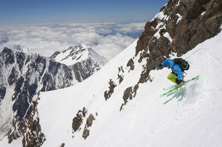 Ross Hewitt skis the west face