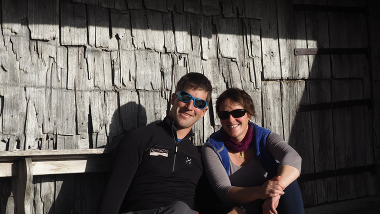 Olivier and his wife Mélanie, who run the Swiss hut with one other employee