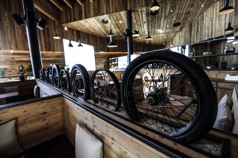 The new mountain-bike inspired restaurant |
