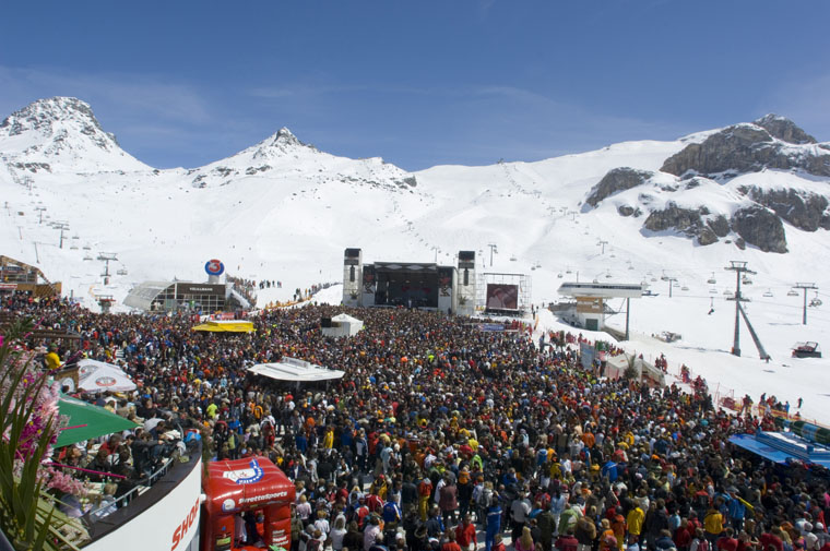 Ischgl's Top of the Mountain concert marks the end of a seven-month ski season |TVB Paznaun/ischgl
