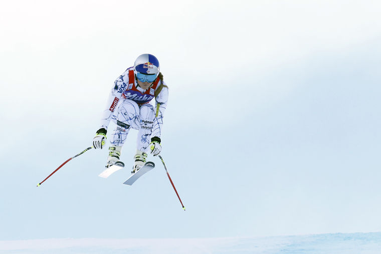 Lindsey Vonn is back, modestly breaking records|Christophe Pallot/Agence Zoom