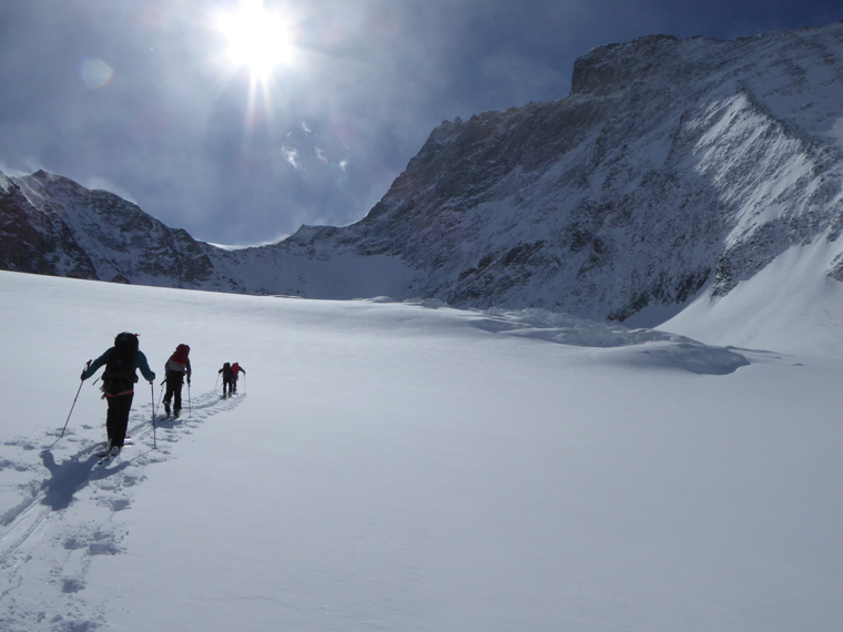 late-season ski touring