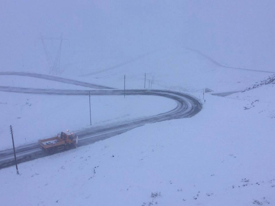 Stelvio Pass first snow autumn 2017
