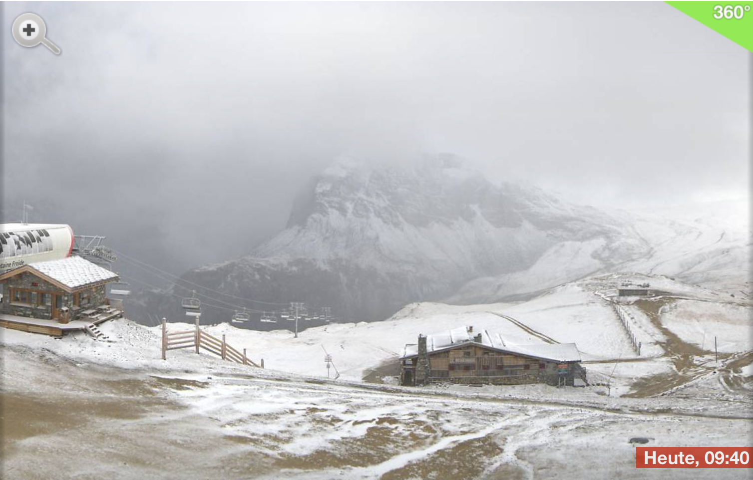 First snow autumn 2017 Tignes-Val d'Isere