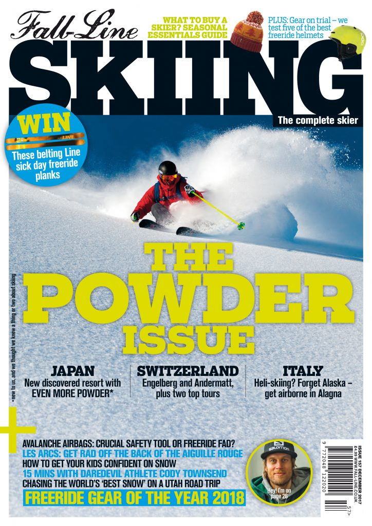 Cover of the 2018 Fall-Line Skiing Powder Issue