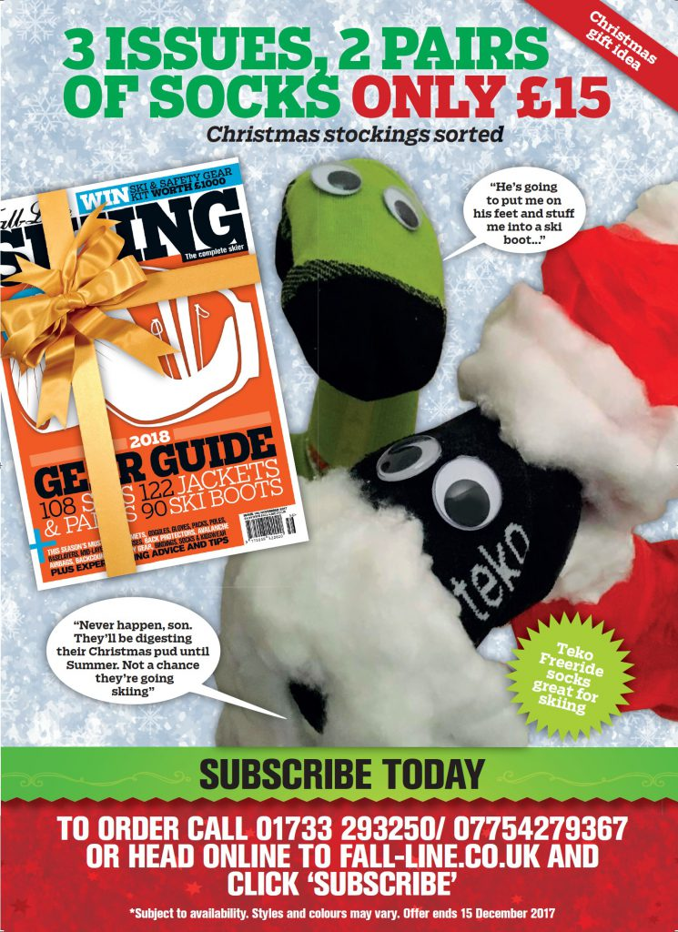 Fall-Line Skiing magazine Christmas subscription offer
