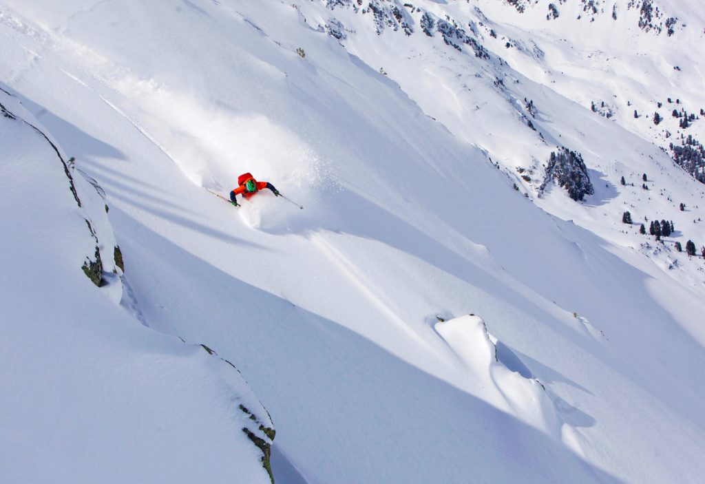 Matt Clark tests the Faction Prime 4.0 ski in the Kühtai backcountry
