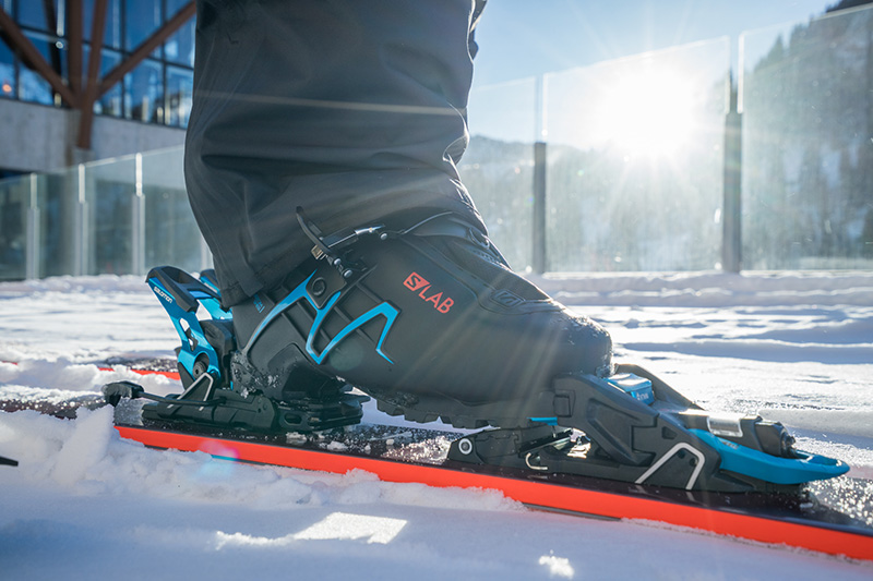 Salomon S/LAB Shift binding in downhill mode