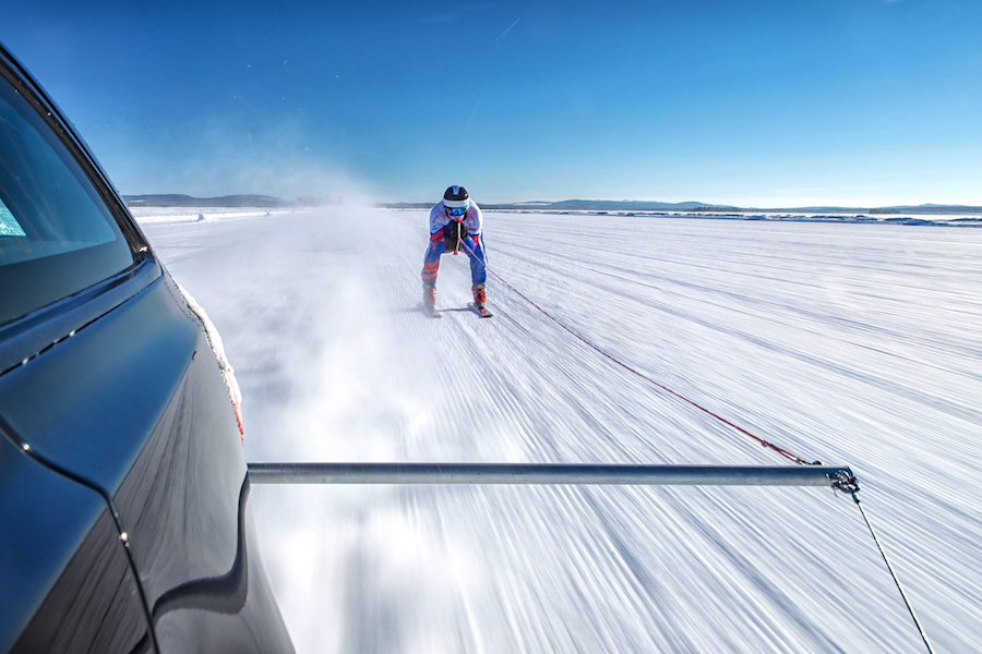 breaking records on skis
