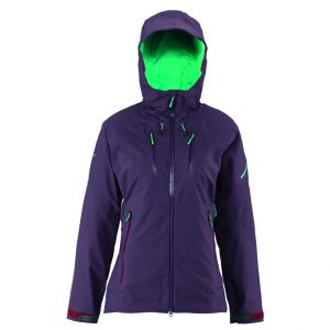SCOTT  QUORRA 150 jacket £325 This is a jacket aimed at the backside, frontside and everywhere in between. It uses Gore-Tex to keep water and wind out, while maximising breathability and durability, using Thinsulate in cold spots to keep your body temperature in check. Extra details including seamless shoulders, internal cuffs, wind flaps and waterproof zippers make it an A* ladies' jacket.