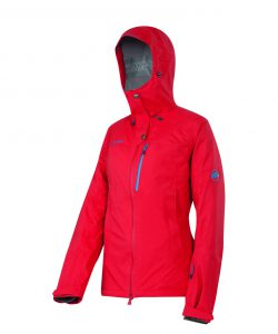 5. MAMMUT  NIVA 3L JACKET £365 Another banging jacket from Mammut. It's all here: DryTech Premium 3-layer outer, helmet-compatible hood, spray-proof zips and a myriad of pockets for goggles, lift passes and just about everything else. Preshaped sleeves and Lycra hand gaiters make for great mobility, as does the stretchy, detachable snow skirt. Loops with press studs make these a cinch to attach to the matching pants.