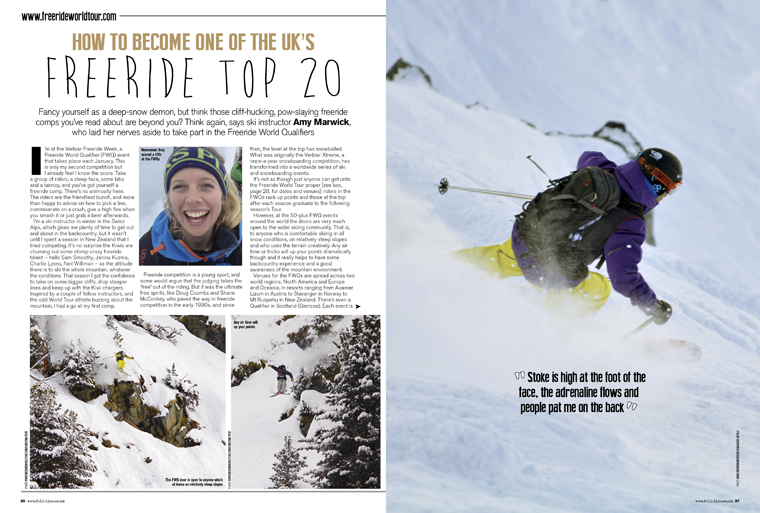 How to nail a Freeride competition