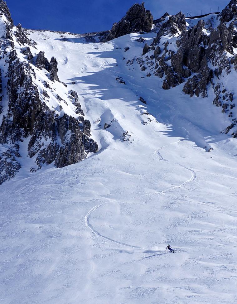 Best October ski ever? Possibly... |Photo: Chris Loerke Skier: Tom Fichtel