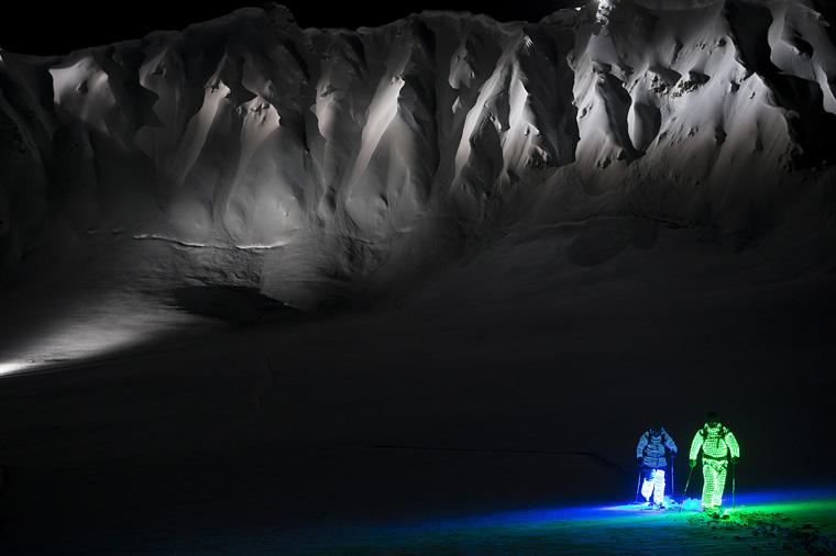 Daron Rahlves and Chris Benchetler get their glow on| Oskar Enander