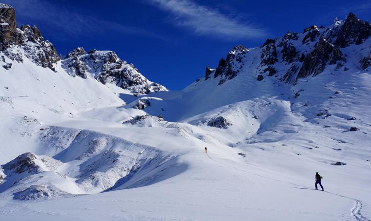 First tour of the season - tough, but worth it |Photo: Matt Clark Skiers: Tom Fichtel & Chris Loerke