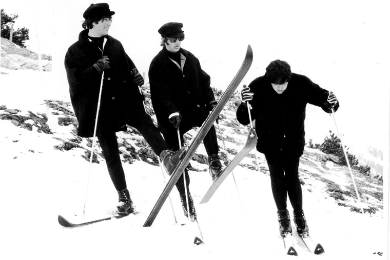 "The Beatles filming in Obertauern, Austria, for ""Help!"""