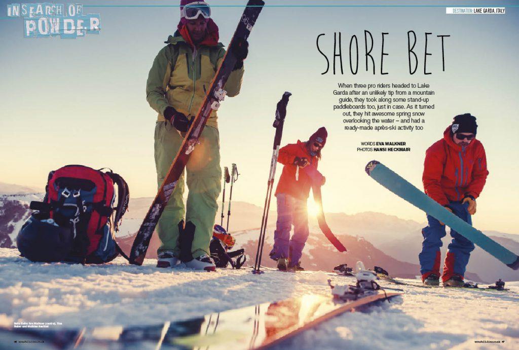 Eva Walkner packs her SUP board and touring skis for a springtime trip to Lake Garda