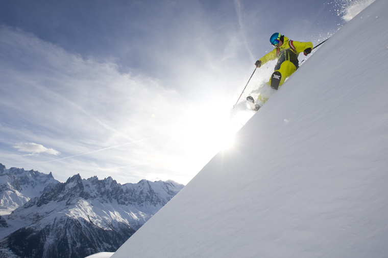 Close to the edge in Chamonix | Photo Adam Clark