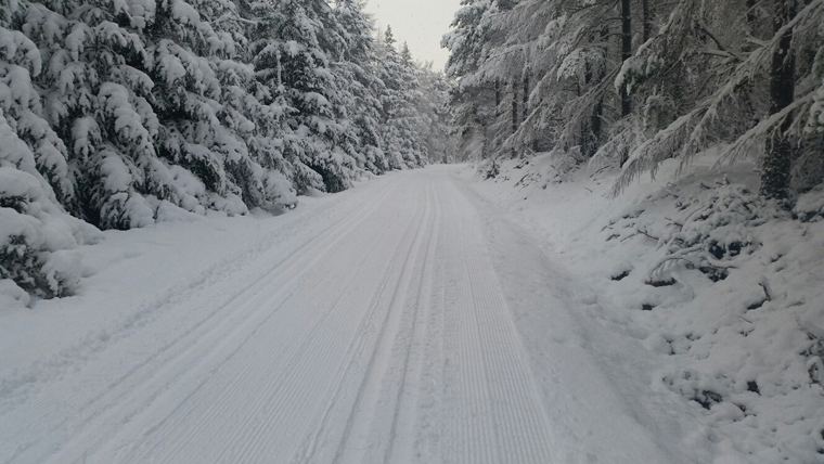 As well as alpine skiing, the Cairngorms are home to fine cross country tracks