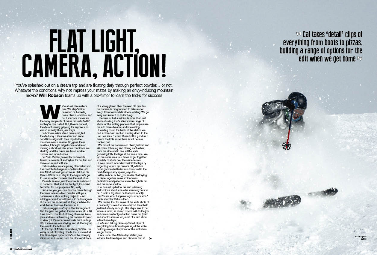 How to make your own ski film - Callum Jelley reveals his tips for ski film glory