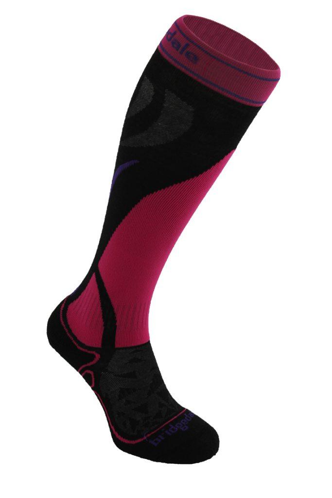 Bridgedale Sock 638 Vertige Mid Wmn 317 Black pink