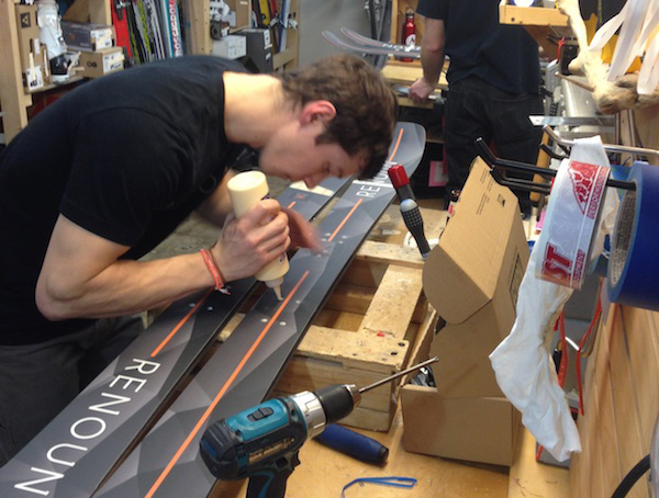 The Renoun Endurance skis are carefully crafted