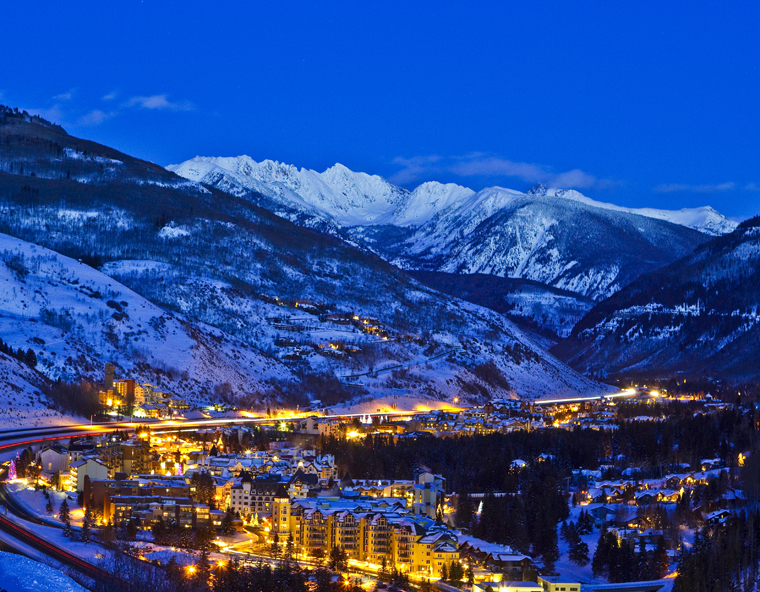 Vail twinkles in the twilight |Ben Affleck
