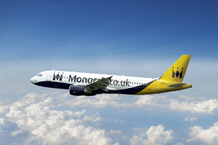 Monarch Airlines__Aircraft flying over the clouds__LOW RES