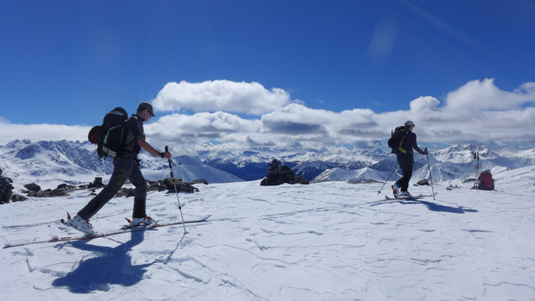 Skinning in the fresh snow was laborious but steady