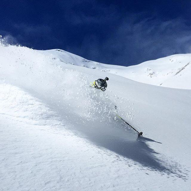 57 inches have fallen in Alpe d'Huez in the past sixe days, leading to one hell of a powder day yesterday |facebook.com/alpe.huez