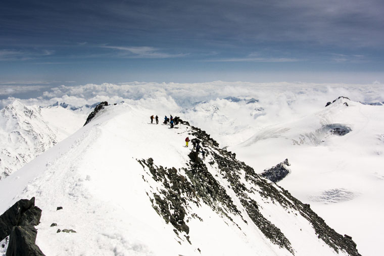 On the 4027m summit of the Allalinhorn | Penny Kendall