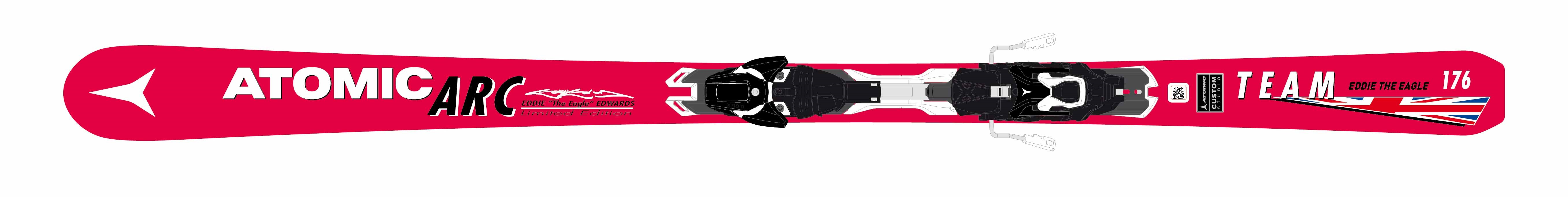 The new ARC ski, based on the Redster Xti