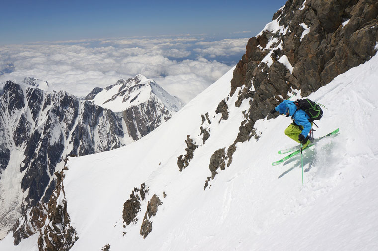 Ross Hewitt skis the west face