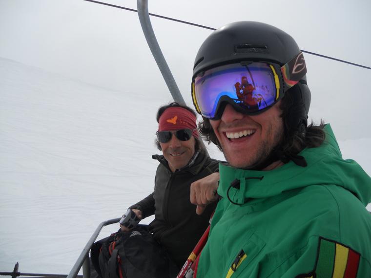 Matt Masson, all smiles now he's skiing again