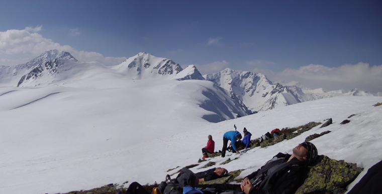 late-season ski touring