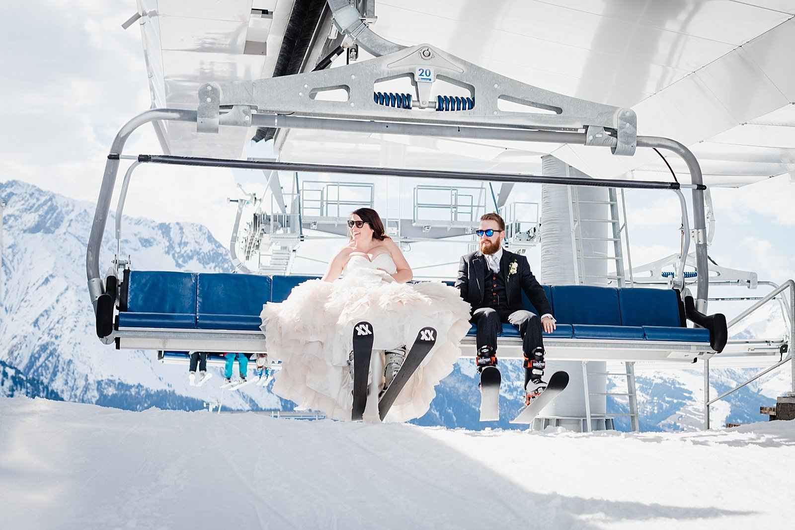 Wild Connections Photography ski wedding 1