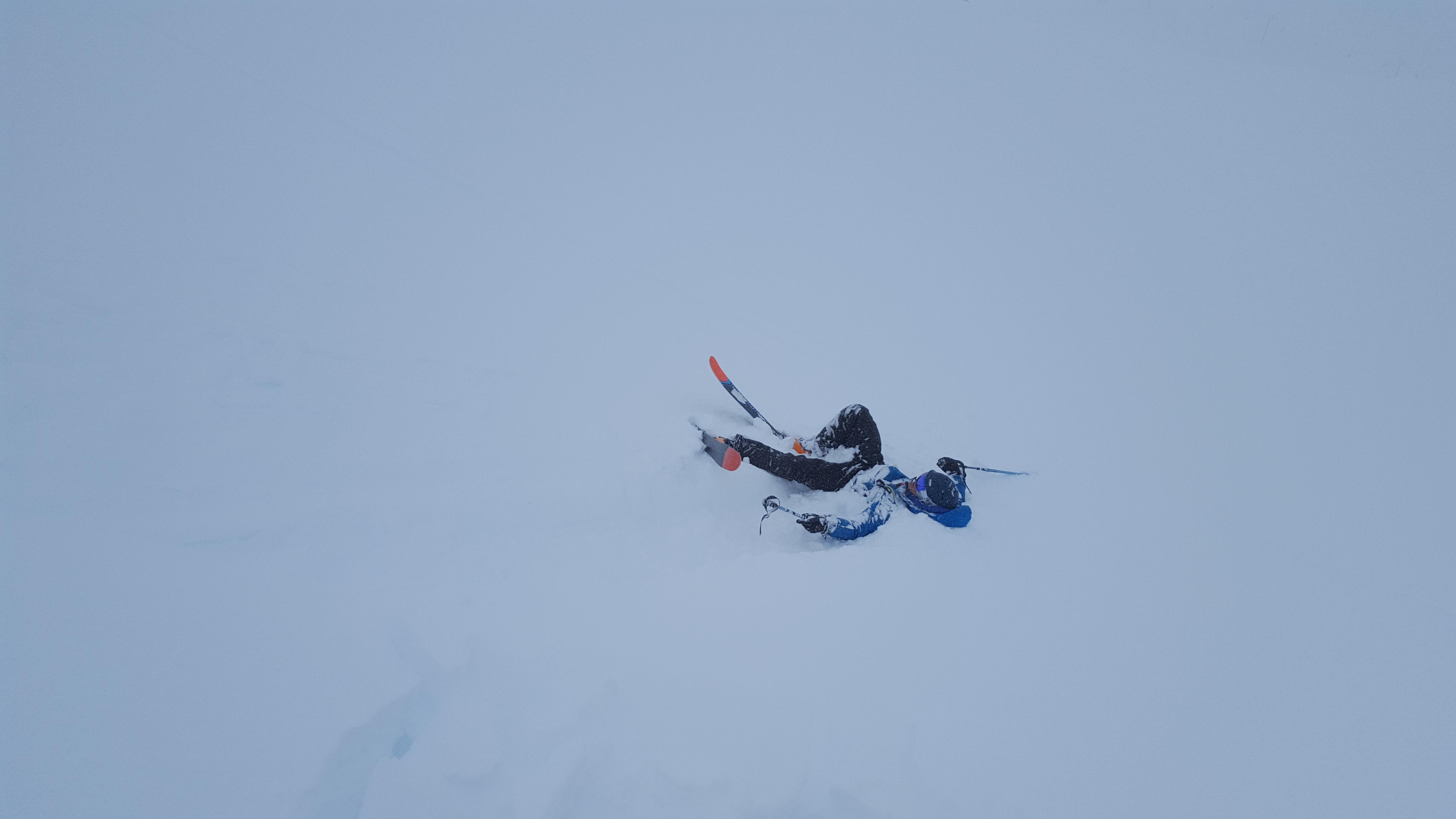 Powder day crash Mt Hutt New Zealand
